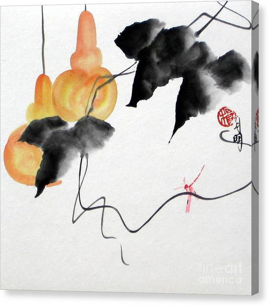 Golden Gourds Canvas Print by Ming Yeung