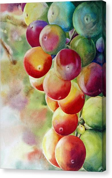 Golden Grapes Canvas Print