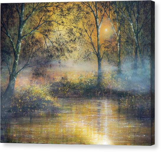 Golden Haze Canvas Print by Ann Marie Bone