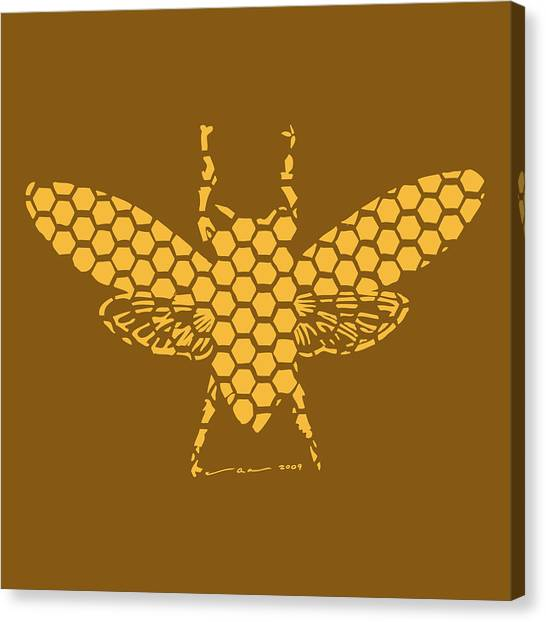 Hornet Canvas Print - Golden Hex Bee by Karl Addison