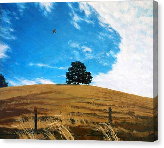 Golden Hills Summer Sky Canvas Print by Jill Iversen