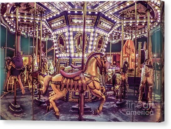 Golden Hobby Horse Canvas Print