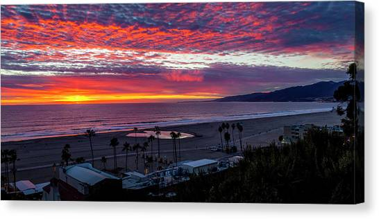 Golden Horizon At Sunset -  Panorama Canvas Print