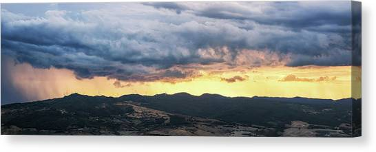 Golden Hour In Volterra Canvas Print