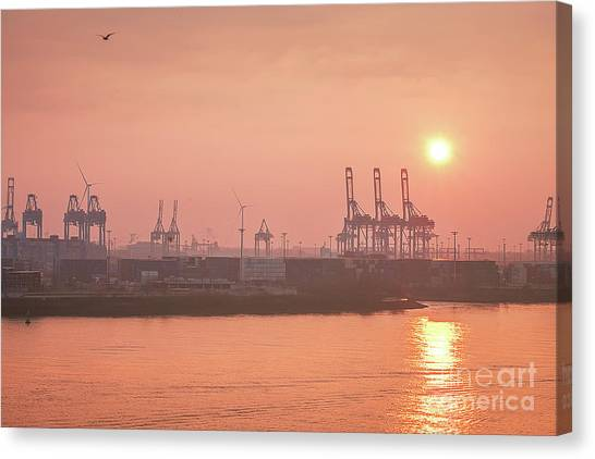 Golden Hour On The Elbe Canvas Print
