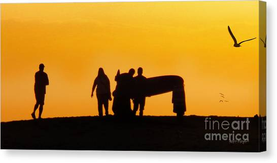 Canvas Print featuring the photograph The Golden Hour by Rhonda Strickland