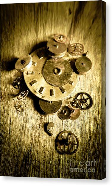 Factories Canvas Print - Golden Industry Gears  by Jorgo Photography - Wall Art Gallery