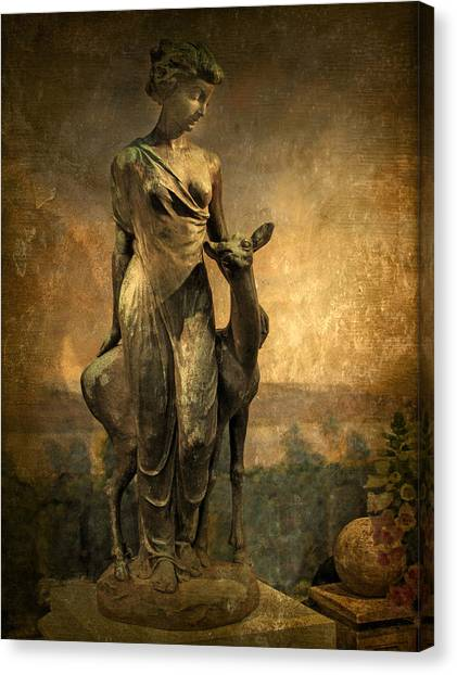 Golden Lady Canvas Print