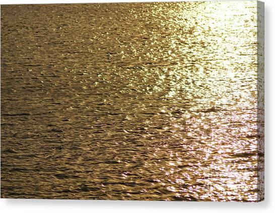 Golden Lake Canvas Print