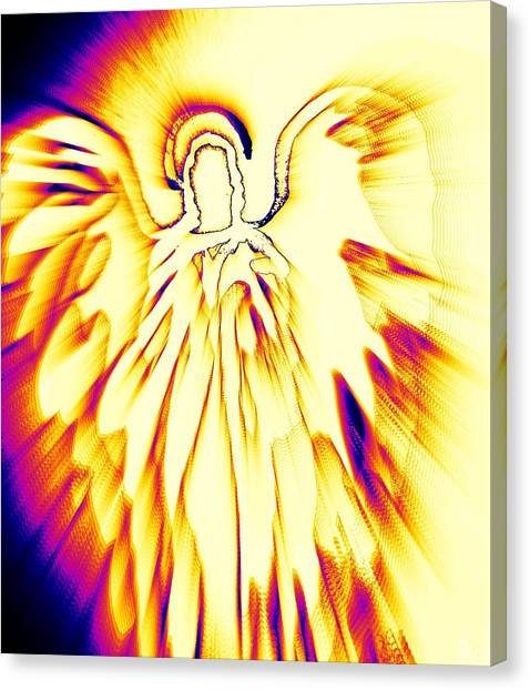 Golden Light Angel Canvas Print