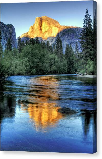 Consumerproduct Canvas Print - Golden Light On Half Dome by Mimi Ditchie Photography