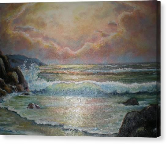 Golden Light Canvas Print by Sheila Tajima