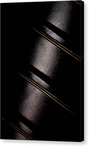 Canvas Print featuring the photograph Golden Line by Paul Job