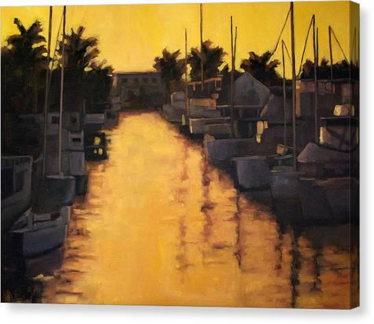 Golden Marina 2 Canvas Print