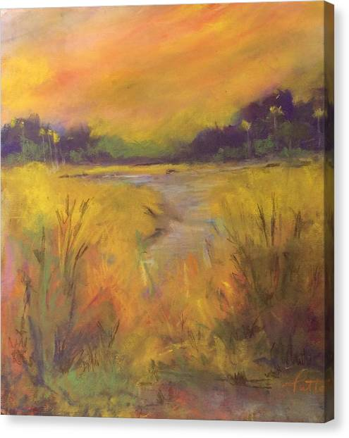 Golden Marsh Canvas Print