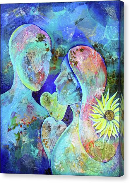 Anniversary Canvas Print - Golden Memories by Shadia Derbyshire