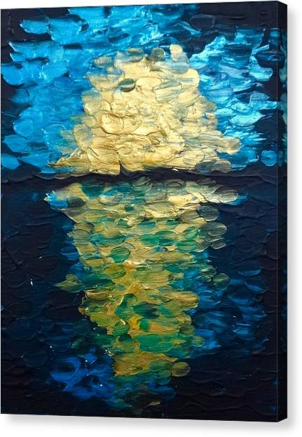 Golden Moon Reflection Canvas Print