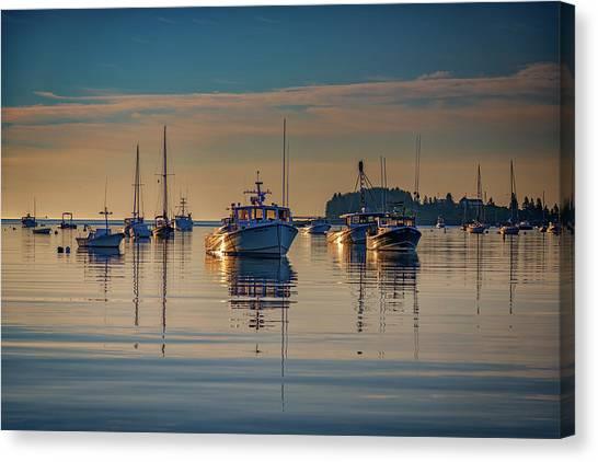 St George Canvas Print - Golden Morning In Tenants Harbor by Rick Berk