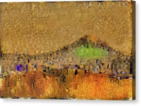 Mount Fuji Canvas Print - Golden Mt. Fuji by ArtMarketJapan