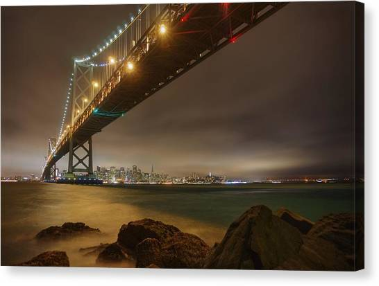 Golden Night Over The City Canvas Print