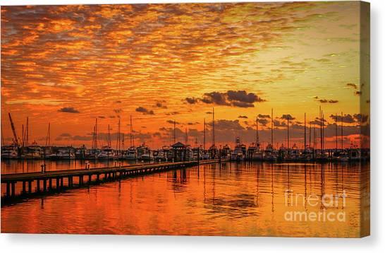 Golden Orange Sunrise Canvas Print