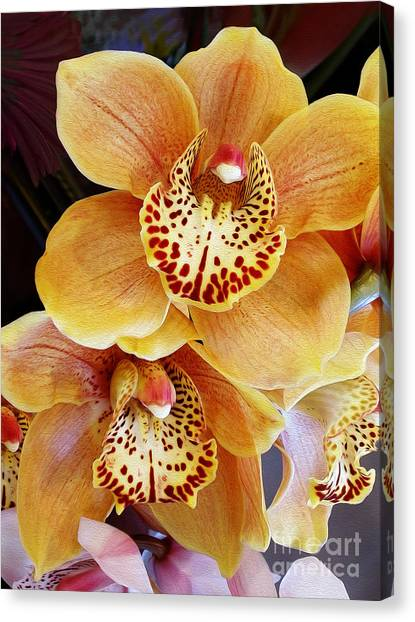 Golden Orchid Canvas Print