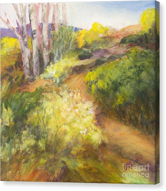 Golden Pathway Canvas Print