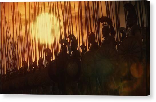 Golden Phalanx - 01  Canvas Print