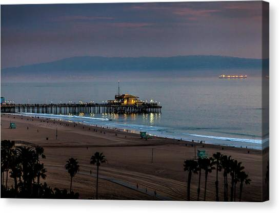 Golden Pier Canvas Print