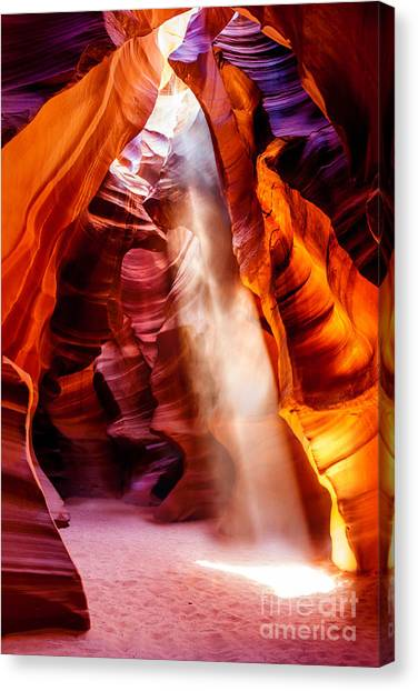 Canyon Canvas Print - Golden Pillars by Az Jackson