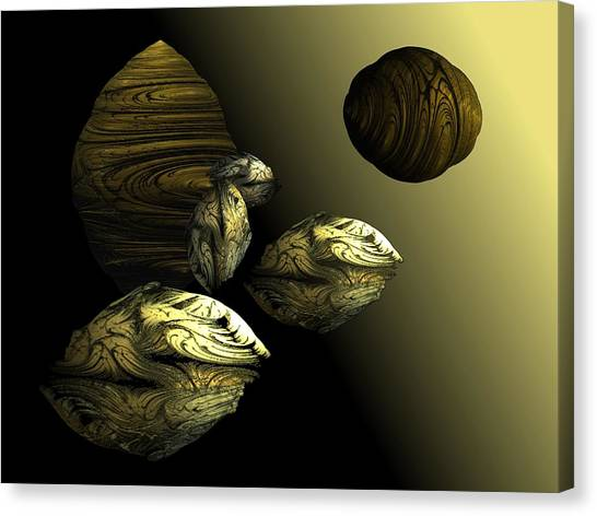 Golden Planet Canvas Print by Ricky Kendall
