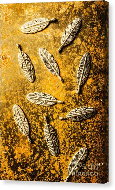 Metallic Canvas Print - Golden Plumage by Jorgo Photography - Wall Art Gallery