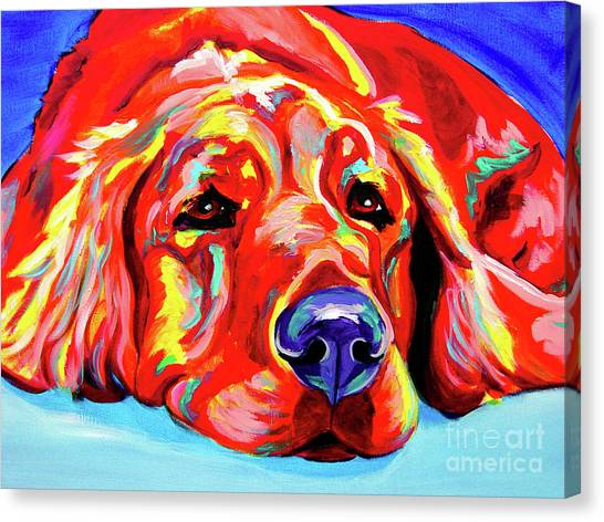 Breed Canvas Print - Golden Retriever - Ranger by Alicia VanNoy Call