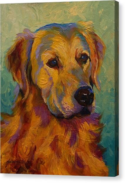 Golden Retrievers Canvas Print - Golden Retriever by Marion Rose