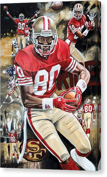 Jerry Rice Canvas Print - Golden Rice by Joshua Jacobs