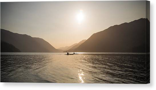 Kayaks Canvas Print - Golden Rowers by Kristopher Schoenleber