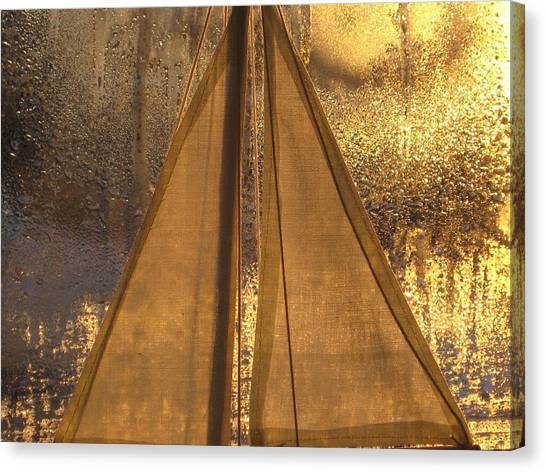 Golden Sails Canvas Print by Lori  Secouler-Beaudry