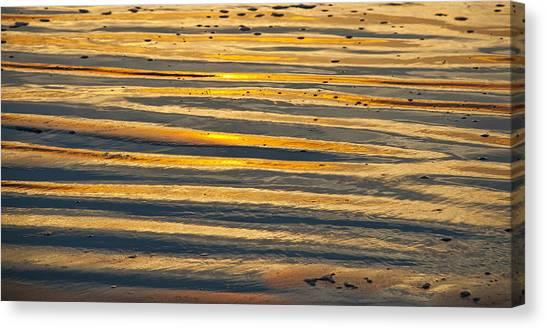 Golden Sand On Beach Canvas Print