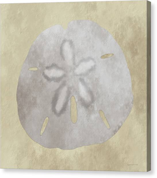 Golden Sandy Dollar Canvas Print