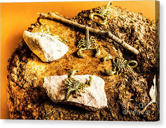 White-tailed Canvas Print - Golden Scorpion Amulets by Jorgo Photography - Wall Art Gallery
