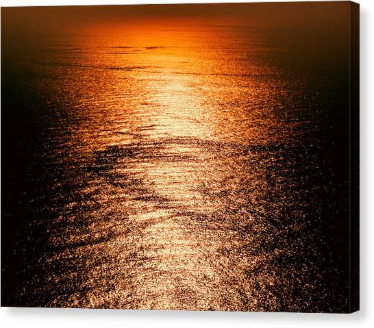 Golden Sea In Alanya Canvas Print