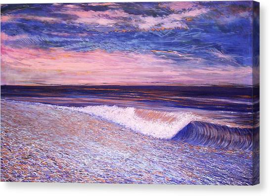 Canvas Print featuring the painting Golden Sea by Jeanette Jarmon