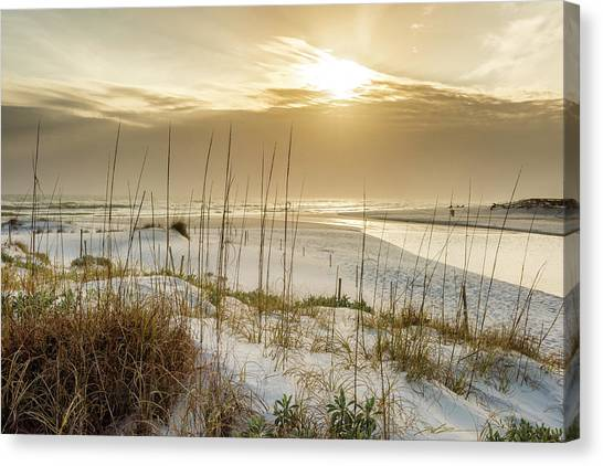 Golden Seagrove Beach Sunset Canvas Print