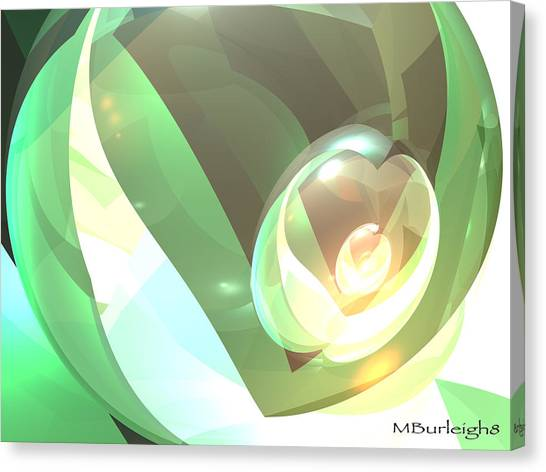 Golden Seed Canvas Print by Michael Burleigh