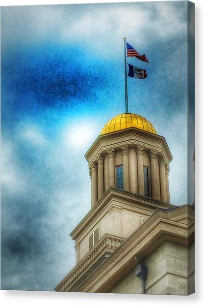Iowa State University Canvas Print - Golden Shine by Jame Hayes