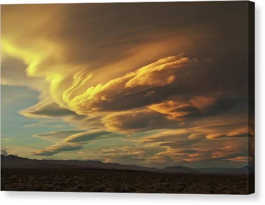 Golden Sierra Wave Canvas Print by Nolan Nitschke
