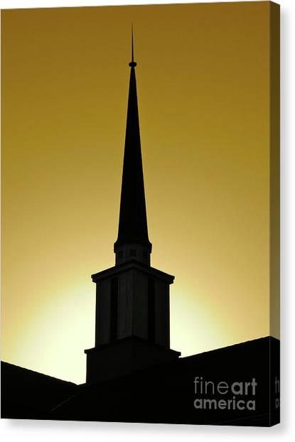 Golden Sky Steeple Canvas Print