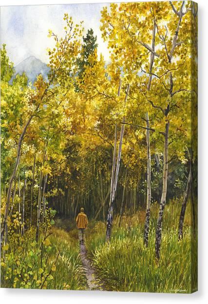 Golden Solitude Canvas Print