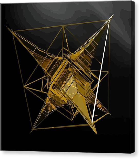 Golden Space Craft Canvas Print