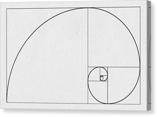 Fibonacci Canvas Print - Golden Spiral by Zapista